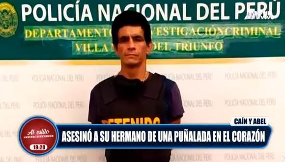 Marco Antonio Miranda Páucar trató de ingresar a la casa situada en Tablada de Lurín, pero fue impedido por sus hermanos, por lo que sacó un cuchillo y atacó a su hermano Evert. (Foto: captura de video)