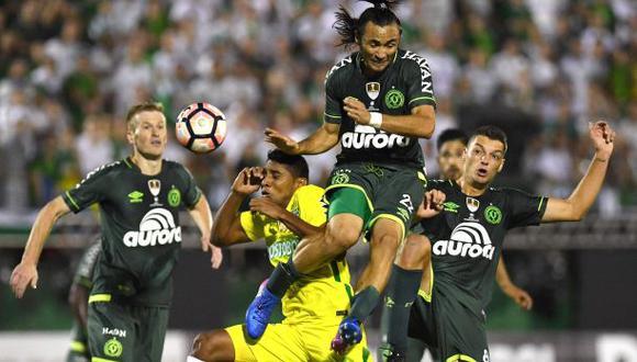 Chapecoense derrotó 2-1 a Atlético Nacional en ida de Recopa