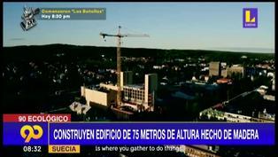 Suecia: Levantan edificio de 75 metros de alto hecho de madera
