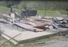 Apurímac: queman maquinarias en campamento de empresa minera