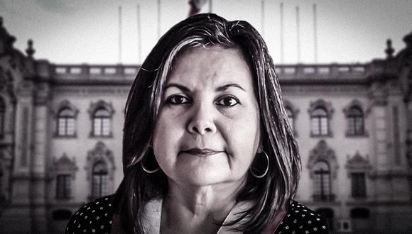 Rocio Silva Santisteban es congresista del Frente Amplio. No fue electa como presidenta del Congreso, pese a encabezar la única lista. (Composición: El Comercio)