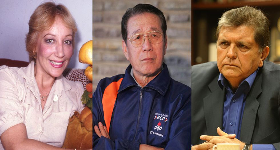 Aquí tres personajes de la televisión, el deporte y la política que nos dejaron este año: Mirtha Patiño, Man Bok Park y Alan García, respectivamente.