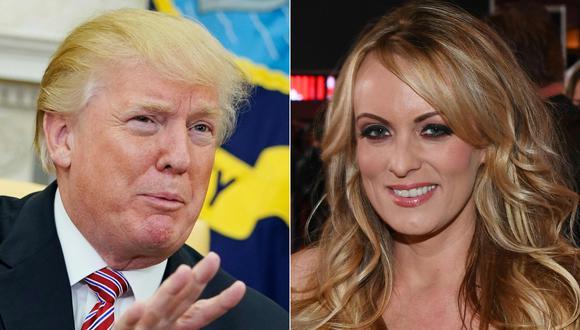 """Actriz porno Stormy Daniels dice que sexo con Donald Trump fue el """"menos impresionante"""" de su vida. (AFP)."""