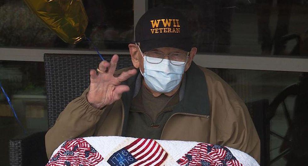 """William """"Bill"""" Lapschies de 104 años logró superar al Covid-19. El anciano es sobreviviente de la Segunda Guerra Mundial y la gripe española.  (Foto: Facebook)"""