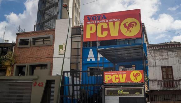 Las instalaciones del partido político chavista Patria Para Todos (PPT) que ha roto con Nicolás Maduro. (EFE/ Miguel Gutiérrez).