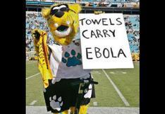 Mascota de la NFL se burla del ébola