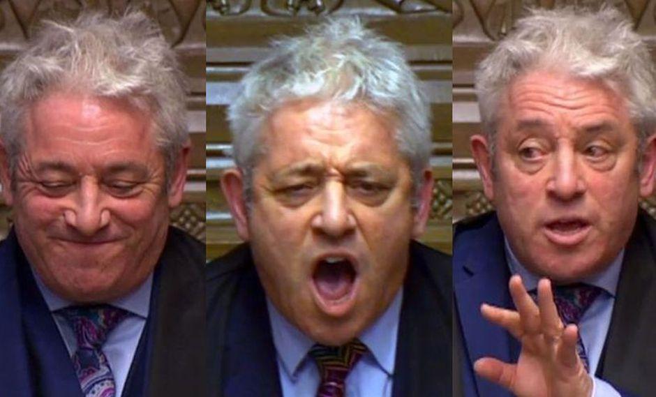 """John Bercow, el hombre que pone """"orden"""" al desorden del Brexit en el Parlamento Británico. (AFP)"""