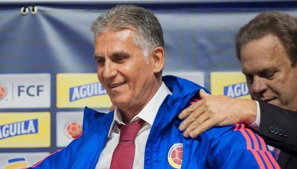 Carlos Queiroz acordó cuatro años de contrato con Colombia. (Foto: AFP)
