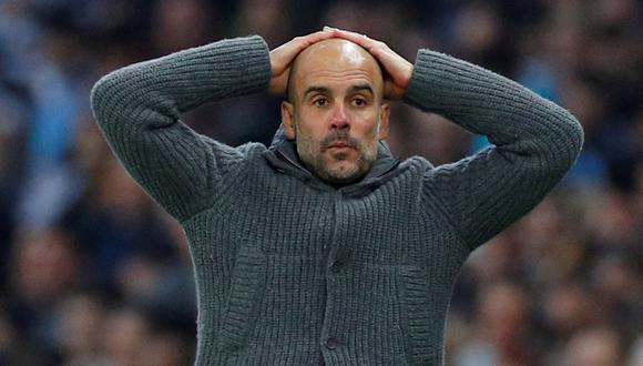 Manchester City de Pep Guardiola fue sancionado con la prohibición de disputar dos temporadas la Champions League. (Foto: AFP)