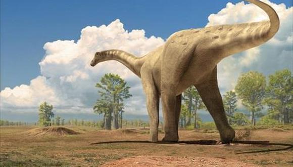 Ilustración de un titanosaurio saurópodo. (ICP)