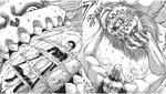 Eren utiliza al Titán Mandíbula para matar a la portadora del Titán Martillo de Guerra (Foto: Kodasha)
