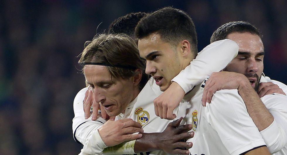 Real Madrid vs. Real Betis: mira el golazo de Luka Modric para el 1-0 del cuadro merengue | Foto: AP
