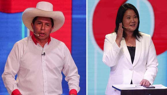 Pedro Castillo (Perú Libre) y Keiko Fujimori (Fuerza Popular) compiten por la presidencia de la República hacia las elecciones del 6 de junio. (Fotos: GEC)