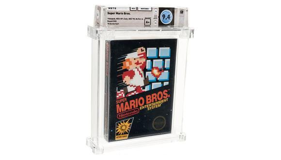 La copia sin uso del Super Mario Bros de 1985 que se vendió en una subasta por 114.000 dólares. (Difusión)
