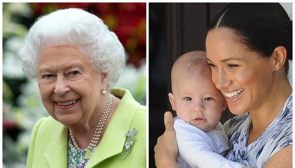 Le reina Isabel II le regaló una máquina para hacer waffles a su bisnieto Archie. El obsequio fue a petición de Meghan de Sussex. (Fotos: AFP)