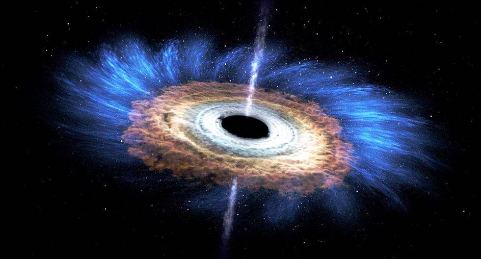 Representación artística de un agujero negro. (Imagen: NASA's Goddard Space Flight Center)