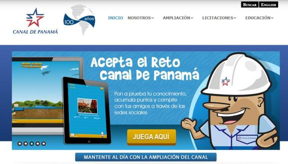 El Canal de Panamá lanza nuevas aplicaciones en Internet