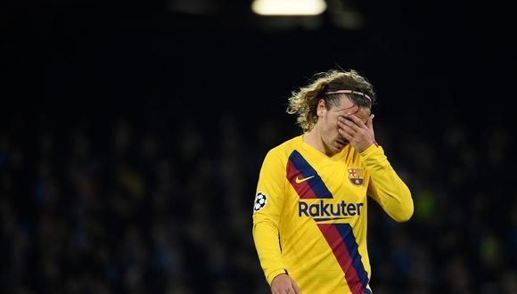 Antoine Griezmann se lesionó y es baja en el Barcelona. (Foto: AFP)