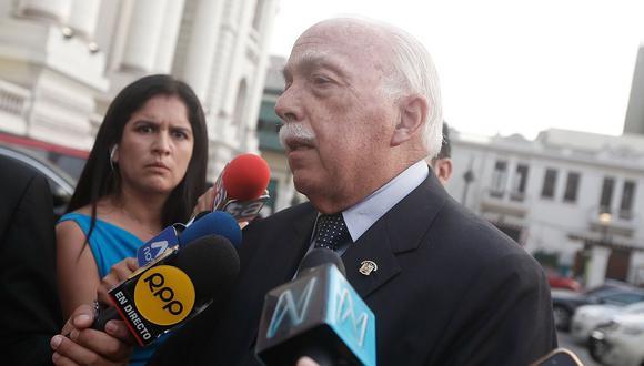 """Tubino indicó que la permanencia de Chávarry """"estaba afectando ya la institucionalidad de la fiscalía de la Nación"""". (Foto: GEC)"""