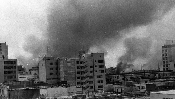 LIMA, 6 DE FEBRERO DE 1975  HUELGA POLICIAL. SAQUEOS.  FOTO: GEC ARCHIVO HISTÓRICO