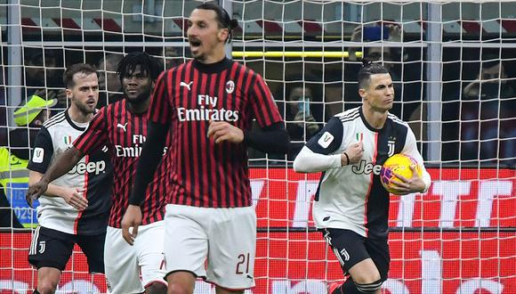 Con Cristiano Ronaldo y Zlatan Ibrahimovic, Juventus y Milan juegan hoy  por la fecha 31 de la Serie A. (Foto: AFP)