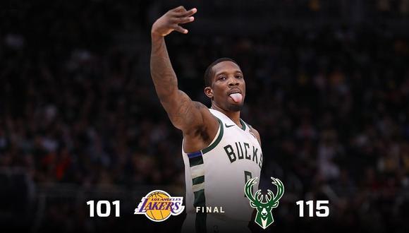 Bucks venció 115-101 a Lakers en Milwaukee con gran actuación de Khris Middleton por NBA. (Foto: Twitter Bucks)