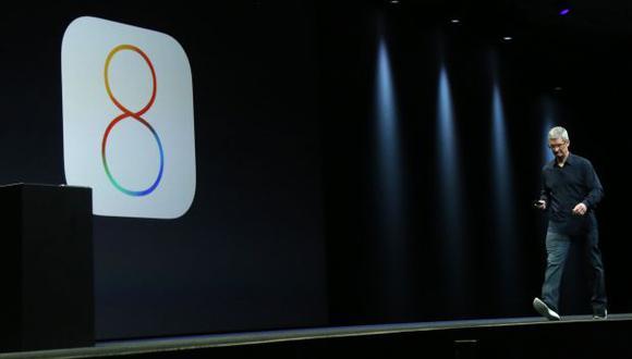 Tim Cook en la presentación del iOS 8 de Apple (Foto: Reuters).