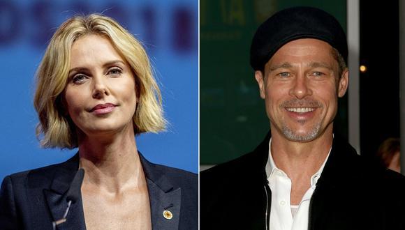 Charlize Theron y Brad Pitt. (Fotos: Agencias)