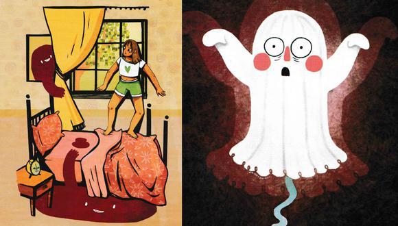 """""""Cuentos Para Normales"""" es un libro compuesto por los cuentos de 20 niñas y adolescentes que buscan hacer que la menstruación no asuste (Ilustraciones tomadas del libro """"Cuentos Para Normales)."""