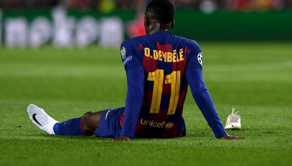 Ousmane Dembélé se encuentra lesionado en su casa. (Foto: AFP)