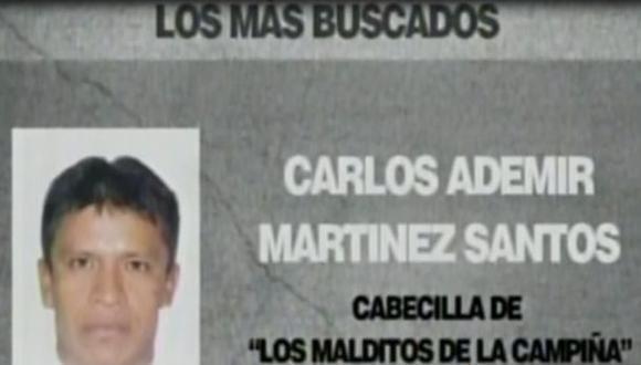 Alias 'Catón' fue detenido por el Escuadrón de Emergencia en Chimbote, Áncash. (Captura de TV)
