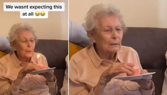 Una abuela protagonizó un video viral tras hacer una confesión a su familia durante la celebración de su cumpleaños. (Foto: @justakitchenporter / TikTok)