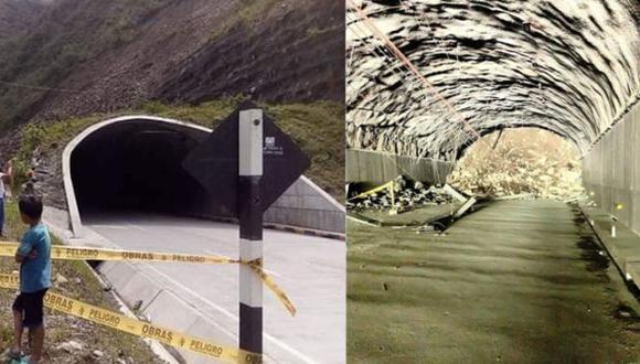 Junín: techo del túnel Yanango colapsa y bloquea vía a la selva central