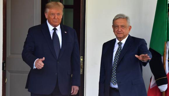 Donald Trump le dio la bienvenida a AMLO en la Casa Blanca. Ambos mantienen una buena relación pese a sus diferencias ideológicas. (Foto: Nicholas Kamm / AFP).
