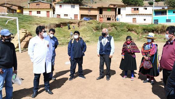 Realizan campaña medica y aplican pruebas rápidas por el COVID-19 en Incahuasi. (Foto: Geresa Lambayeque)