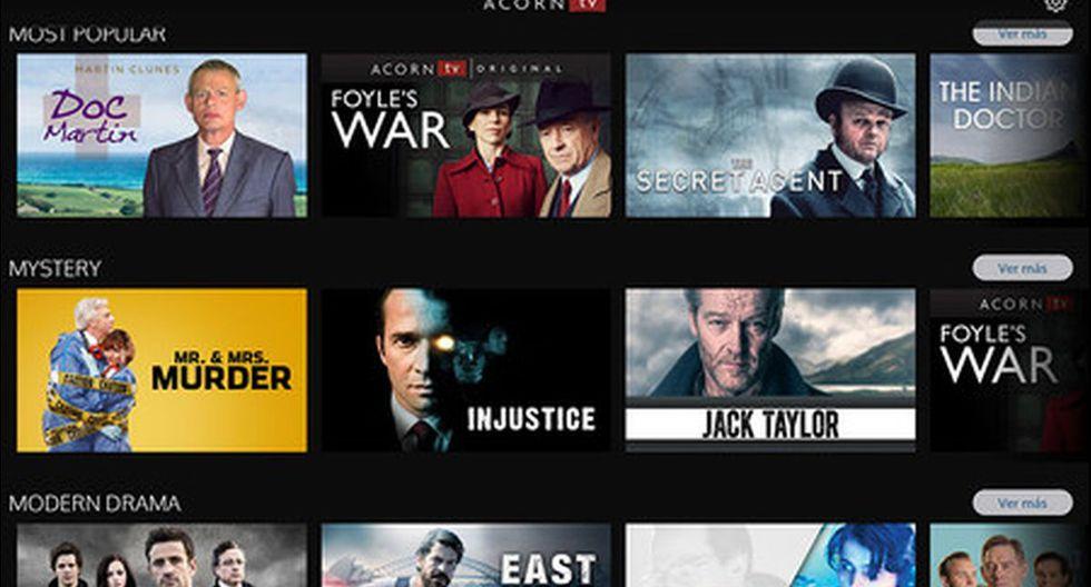 """Acorn TV ofrece series de misterio, drama y comedias del Reino Unido. Con el código """"FREE30"""" tendrás un mes gratis. (Foto: Acorn TV)"""