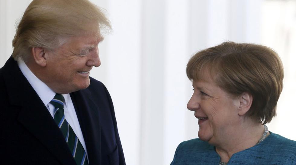El presidente de Estados Unidos, Donald Trump, recibió este viernes en la Casa Blanca a la canciller alemana, Angela Merkel, para una reunión sobre sus diferencias respecto a la OTAN, Rusia, el comercio internacional y otros asuntos. (Reute