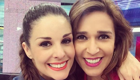 """Rebeca Escribens y Verónica Linares se reencontraron en """"América Noticias"""". (Foto: @ddona_rebe)"""