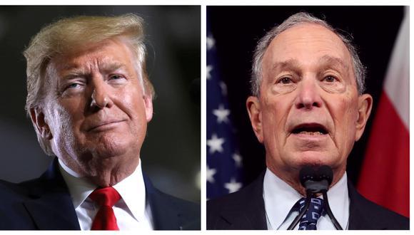 Michael Bloomberg, recandidato presidencial demócrata, y Donald Trump, actual presidente de Estados Unidos y candidato a la reelección. Cada equipo de campaña gastará aproximadamente 10 millones de dólares por 60 segundos en el aire del Super Bowl. (Foto:  Reuters/Archivo/AFP).