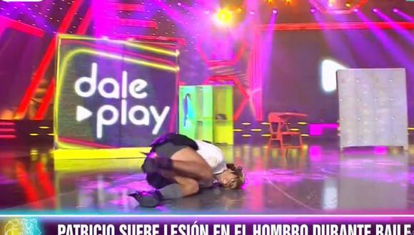 """Patricio Parodi se disloca el hombre durante participación """"Dale Play"""" (Foto: captura)"""