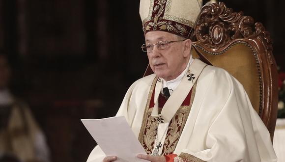 El cardenal Juan Luis Cipriani dirigió la primera misa por 28 de julio en la que participó Martín Vizcarra como presidente de la República. (USI)