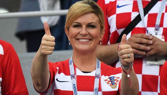 Croacia   Kolinda Grabar-Kitarović, la presidenta de Croacia que alienta a su selección   FOTOS (Foto: AFP)