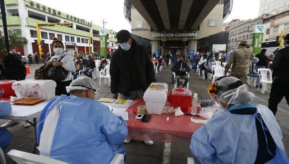 Se detectaron a varias personas con COVID-19 en la estación Gamarra. (Foto: Violeta Ayasta/GEC)