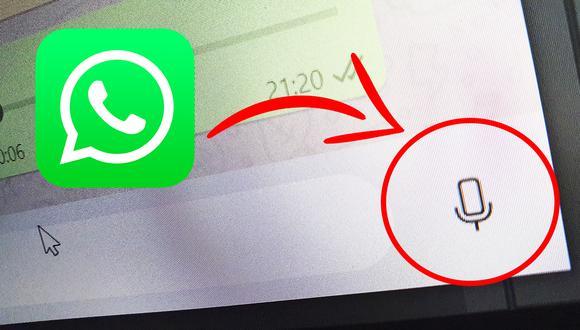 De esta manera podrás enviar mensajes de audio desde tu PC usando WhatsApp Web. (Foto: MAG)