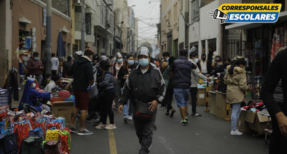 Primer domingo en el Cercado de Lima luego de la inmovilización social de ese día. Foto: Joel Alonso