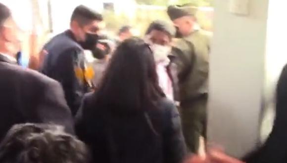 Franco Pomalaya, denunciado por agresión a periodista, acompañará a Pedro Castillo a México y EE.UU. Captura de video RPP