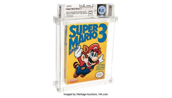 Variante sellada de Super Mario Bros. 3 para NES, de 1990. (Foto: HERITAGE AUCTIONS)