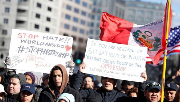 Peruanos participan de huelga de inmigrantes en EE.UU. [FOTOS]