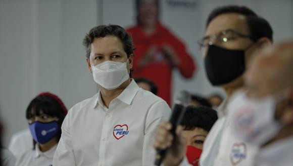 Daniel Salaverry postula a la presidencia de la República con Somos Perú, pero los sondeos no lo han favorecido hasta el momento. (Foto: Miguel Yovera/El Comercio)