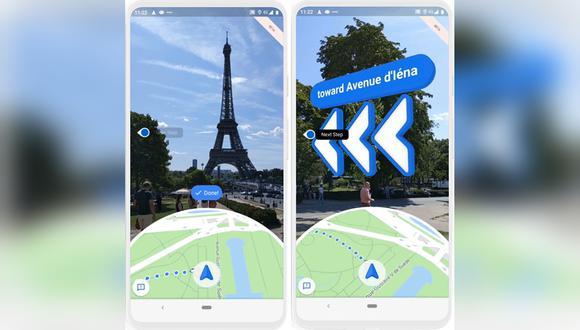 Live View es una función que Google Maps se encuentra probando y que busca mejorar con el paso del tiempo. (Fotos: captura/Google)